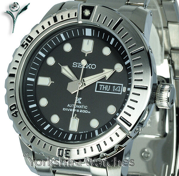 New seiko prospex air divers black face with stainless steel bracelet srp585k1 ebay - Seiko dive watch history ...
