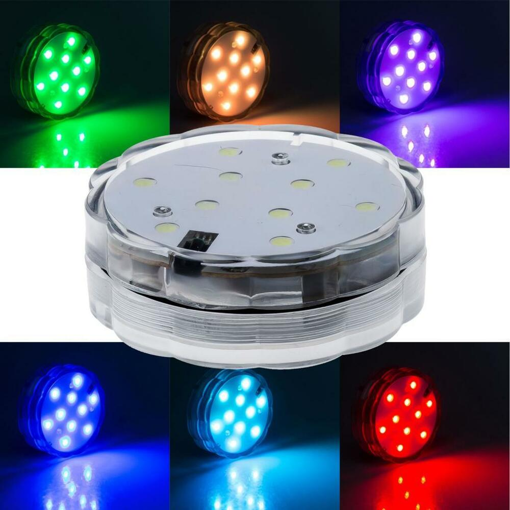 10 Led Multi Color Waterproof Submersible Party Light With