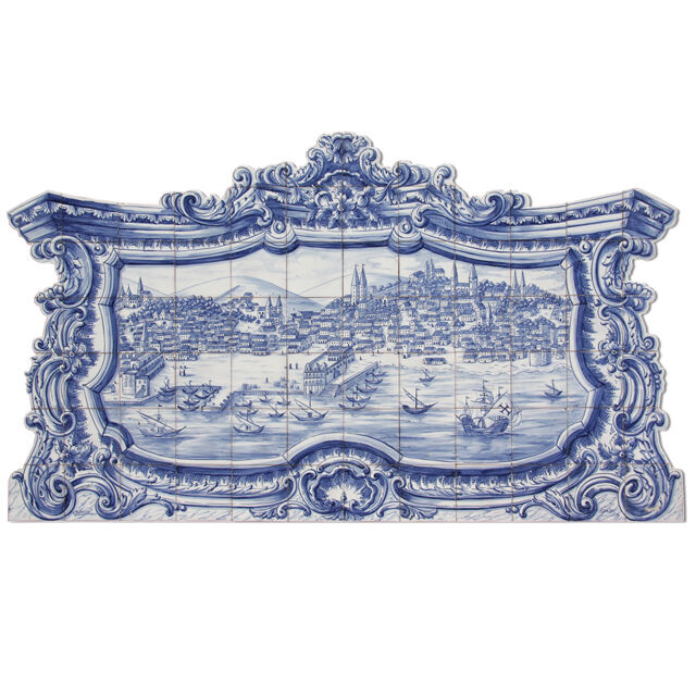 Portuguese Traditional Hand Painted Azulejos Tile Mural
