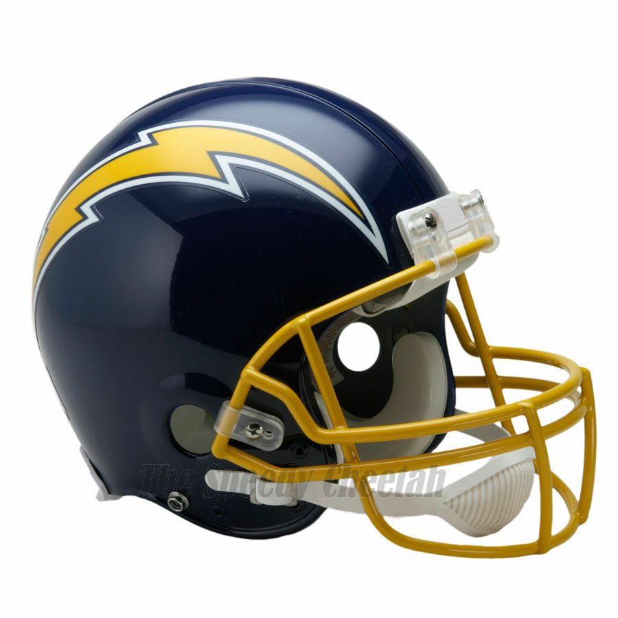 San Diego Chargers Football Helmet: SAN DIEGO CHARGERS 74-87 RIDDELL NFL THROWBACK AUTHENTIC