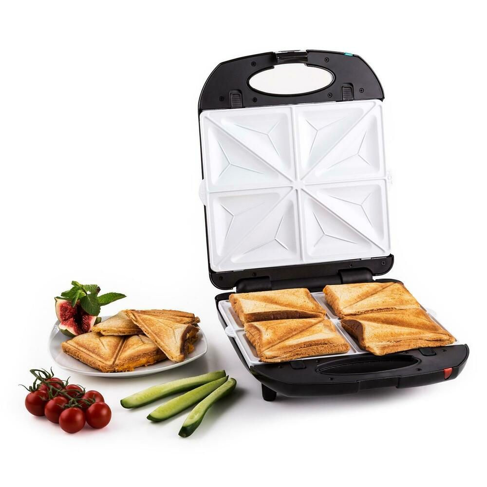 elektro sandwich maker waffel eisen kontakt grill 3in1 wechsel platten schwarz ebay. Black Bedroom Furniture Sets. Home Design Ideas