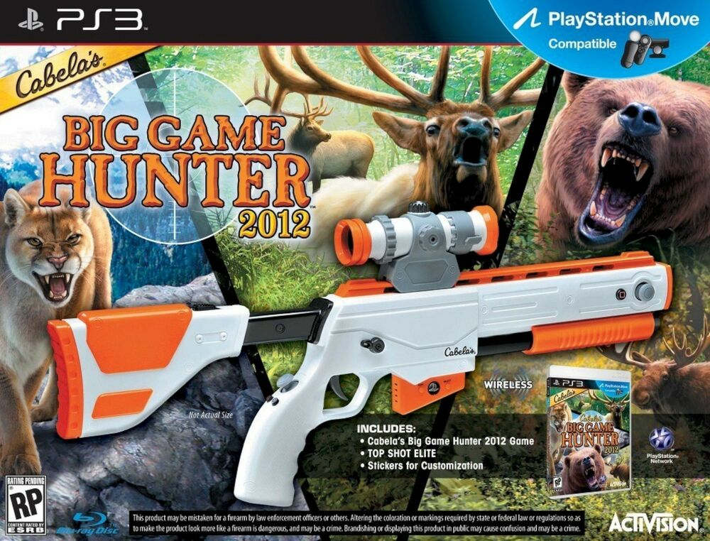 Hunting Games For Xbox 1 : New ps cabela s big game hunter gun bundle