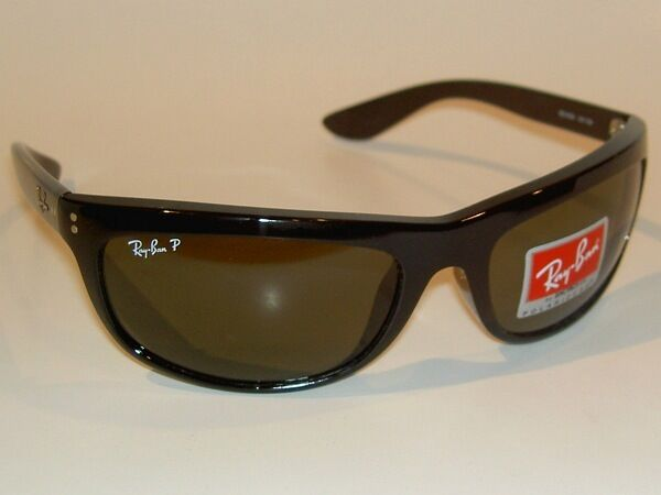 8c0d52a870 Details about New RAY BAN Sunglasses BALORAMA Black Frame RB 4089 601 58  Glass POLARIZED Green