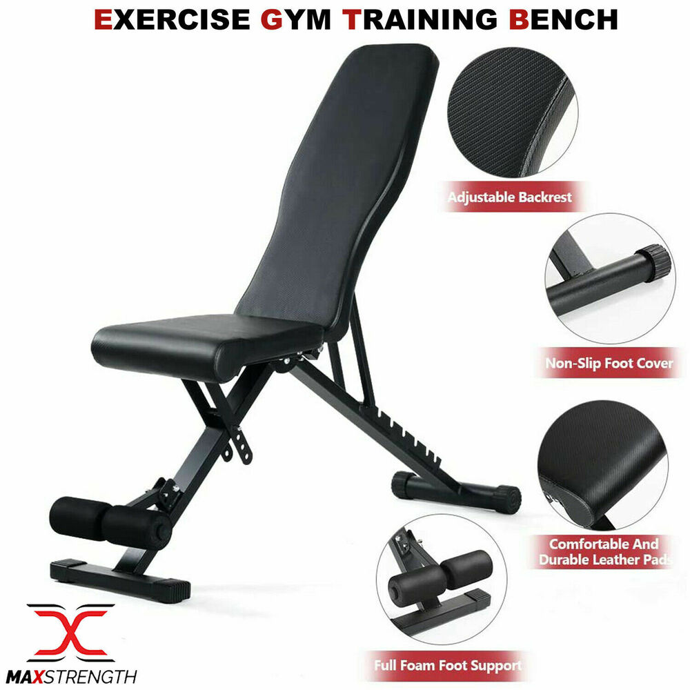 Foldable weight lifting abs abdominal bench flat workout gym exercise home train ebay Abs bench