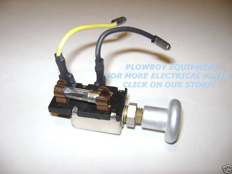 New Ford Tractor Light Switch 2n 9n 9n11652b Knob Fuse