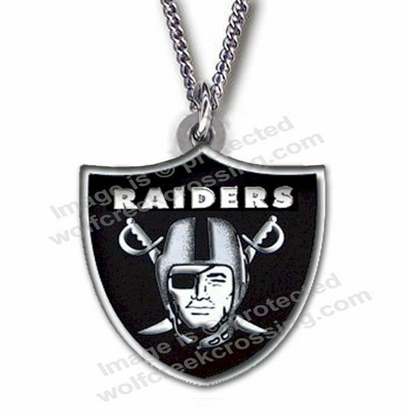 Oakland Raiders Necklace For Male Or Female 24 Quot Football