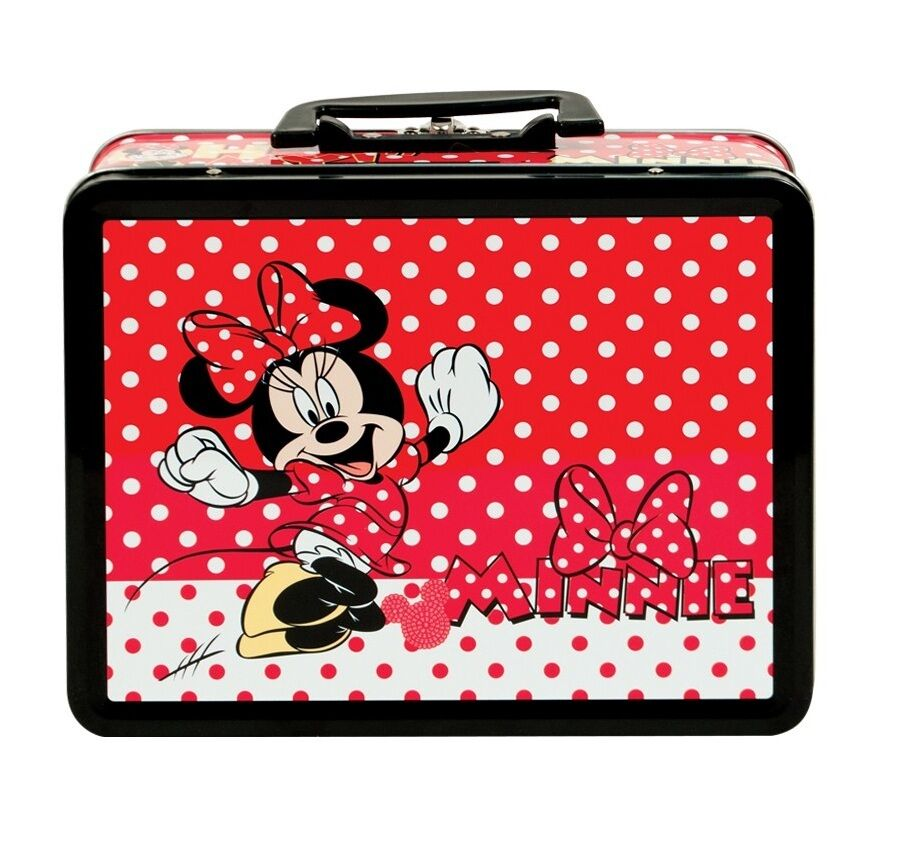Disney Minnie Mouse Pack Lunch Tin Box For Kids School