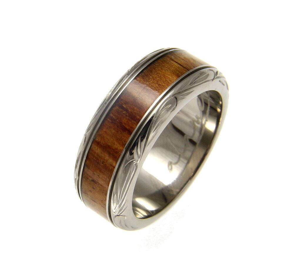 Koa Wood Hawaiian Rings