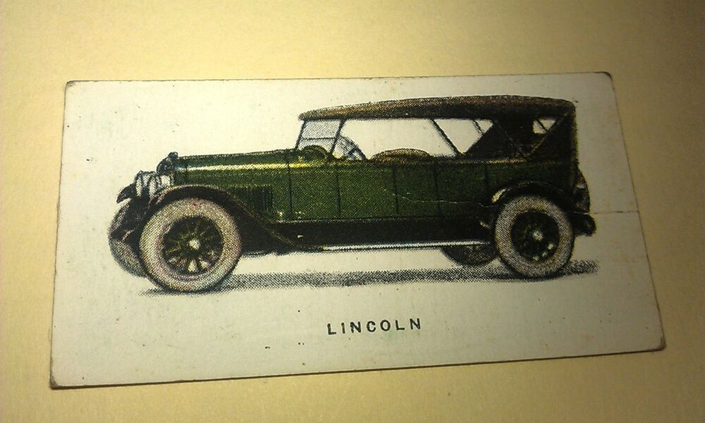 1924 lincoln imperial tobacco co canada cigarette card Lincoln motor company canada