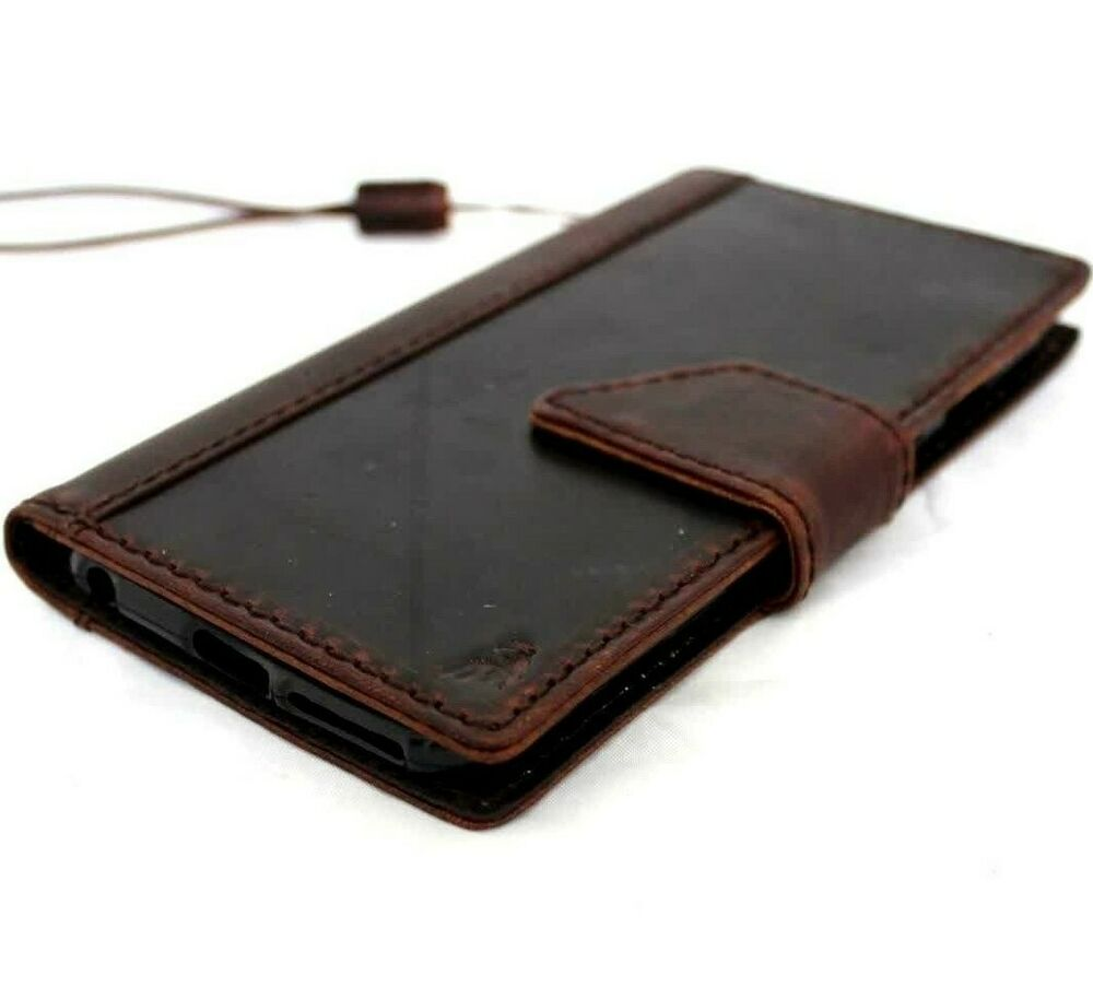 Old Leather Book Iphone Cover : Genuine vintage leather case fit apple iphone plus book