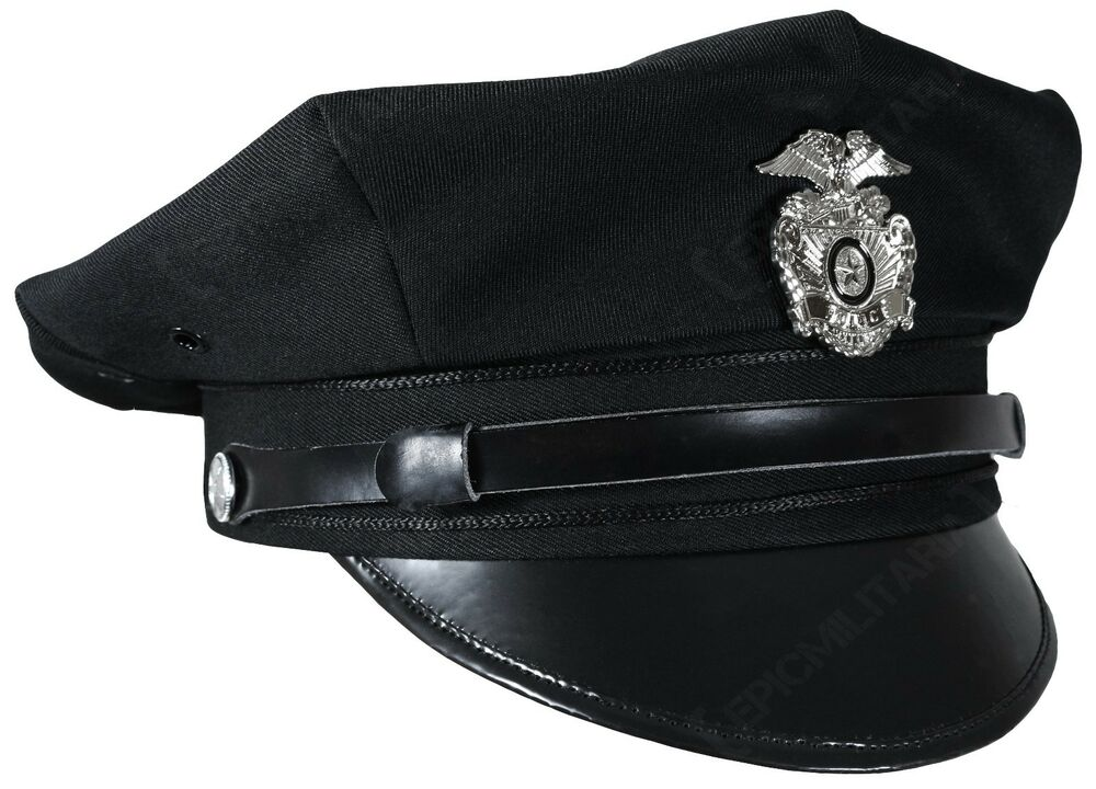 vintage us american police force 8 point visor cap officer