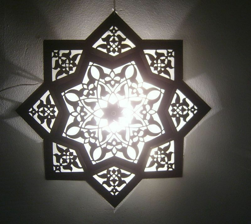 Moroccan Star Flush Mount Ceiling Light Fixture Lamp Ebay