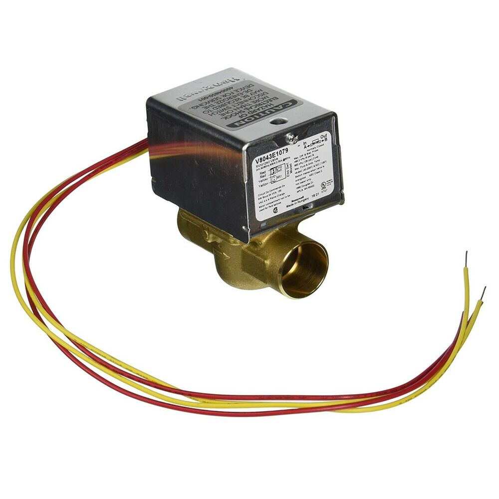Honeywell v8043e1079 24v motorized zone valve 1 swt ebay for Honeywell valve motor replacement