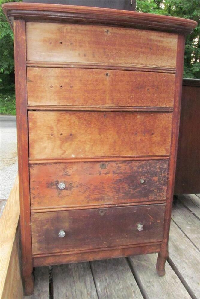 Antique s cherry chest of drawers dresser west
