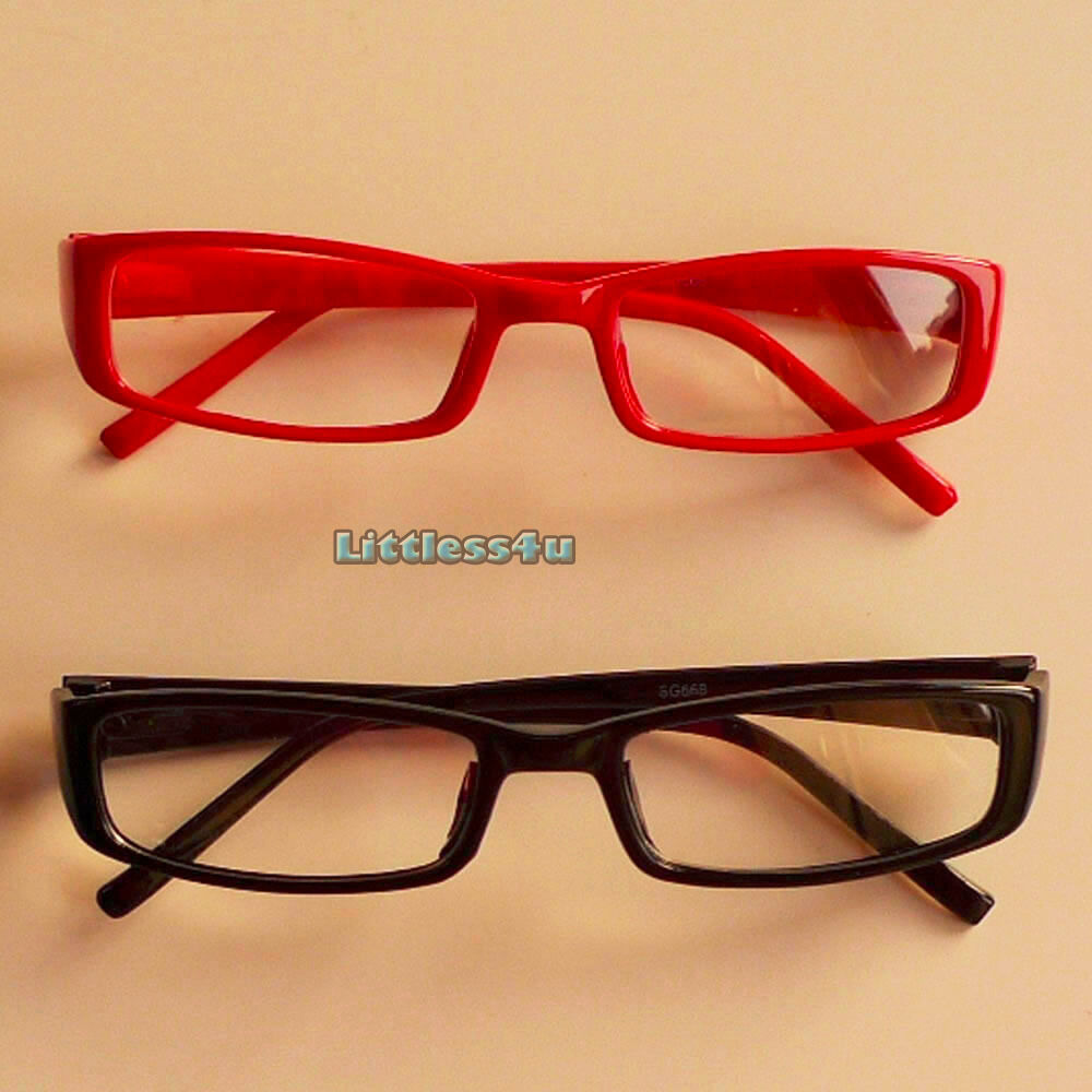 Thin Framed Fashion Glasses : Black Red Clear Lens Fashion Glasses Small Slim Thin Frame ...