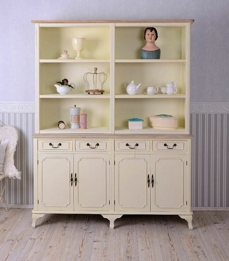 k chenregal shabby chic k chenschrank buffet weiss regal antik ebay. Black Bedroom Furniture Sets. Home Design Ideas