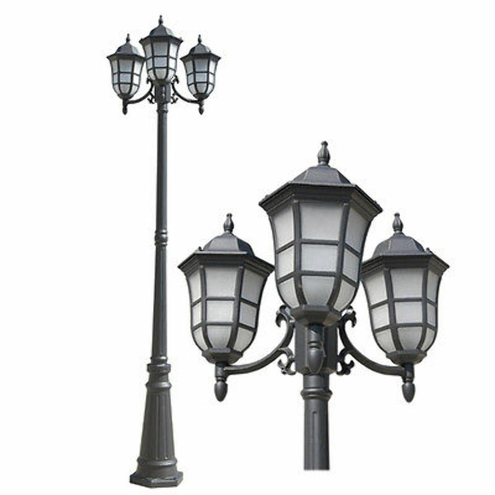 Outdoor Post Light Bulbs: TP Gorgeous Black Finished Outdoor Post Pole Light