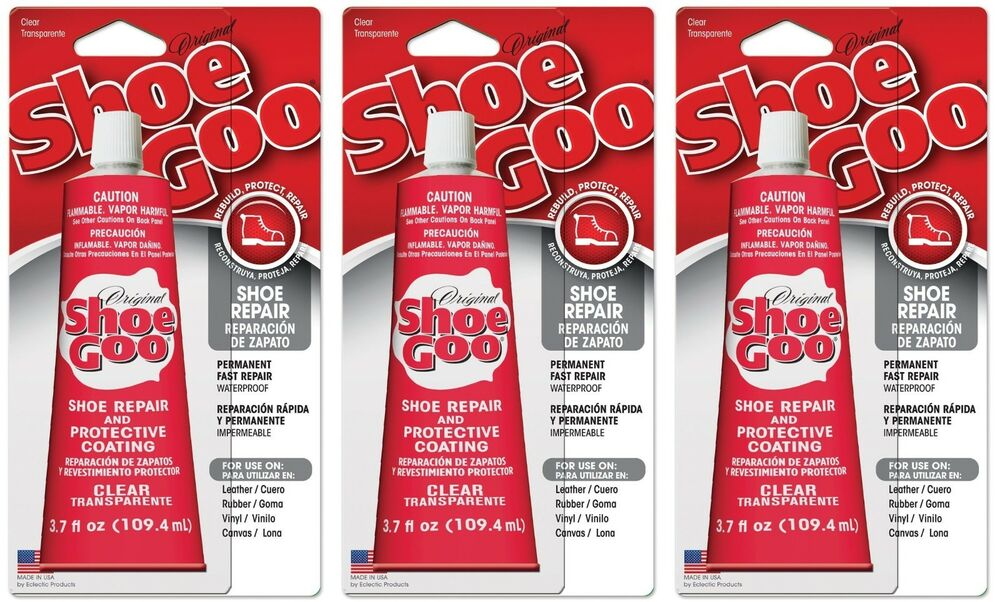 3 shoe goo 110011 clear adhesive glue 3 7oz for leather