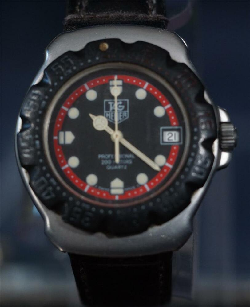 Nice working tag formula 1 heuer professional diver 39 s 200m watch ebay - Heuer dive watch ...