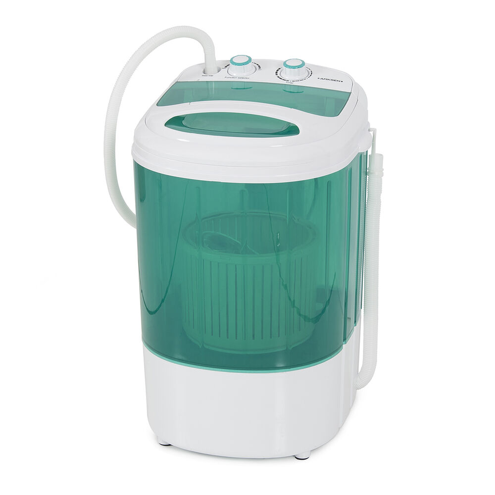 Portable washing machine 8 9lbs dorm camping rv compact laundry spin dry cycle ebay - Small space washing machines set ...