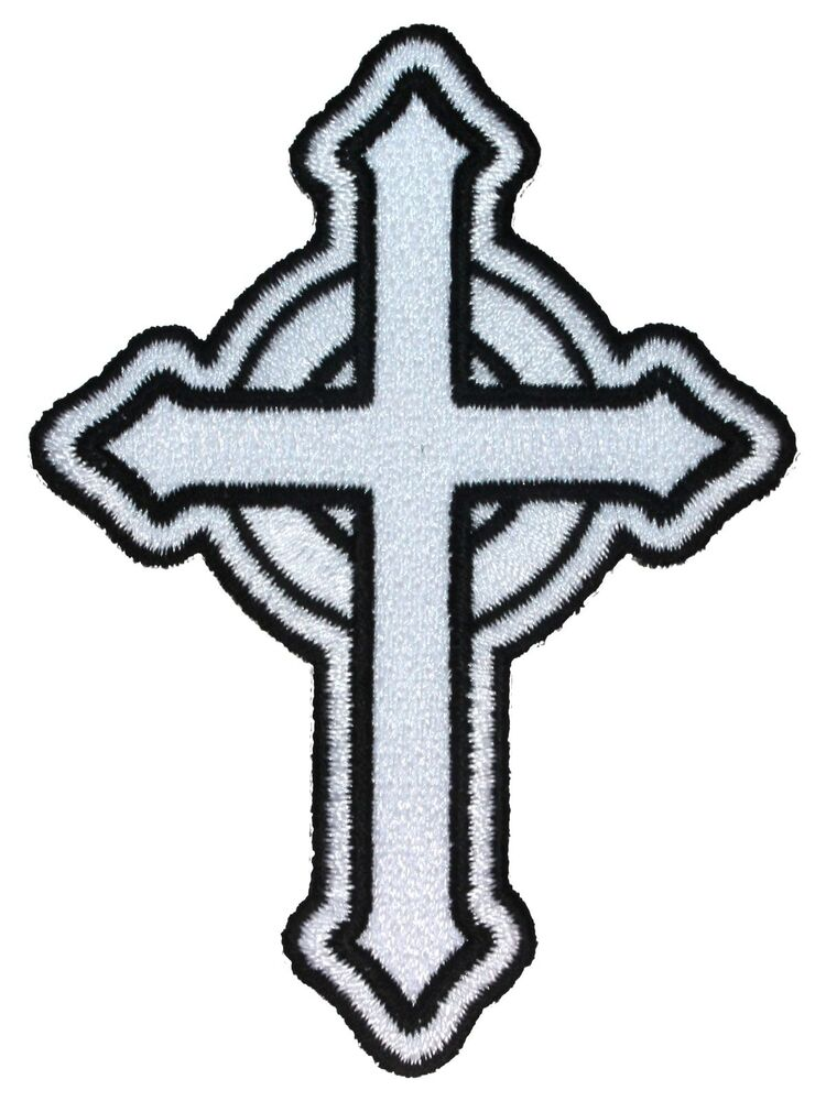 white catholic cross patch religious roman irish christian