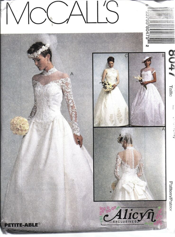 8047 uncut vintage mccalls sewing pattern misses bridal for Wedding dress patterns vintage