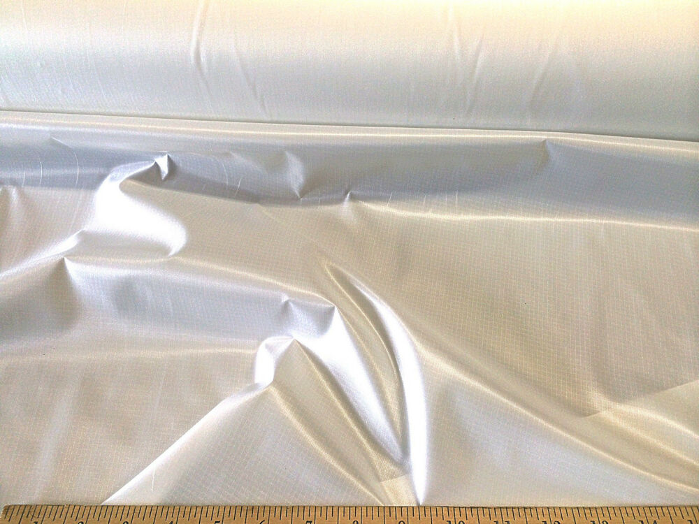 discount fabric ripstop rip stop nylon water resistant white by the yard ebay. Black Bedroom Furniture Sets. Home Design Ideas
