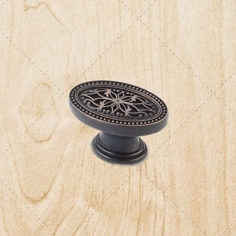 Kitchen Cabinet Oval Knobs Ku12 Brushed Oil Rubbed Bronze