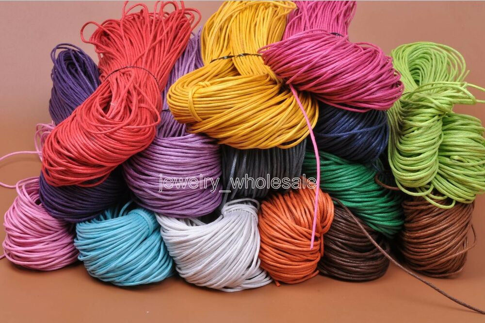 80m 1 5mm Waxed Coated Wax Cotton Cord String Linen