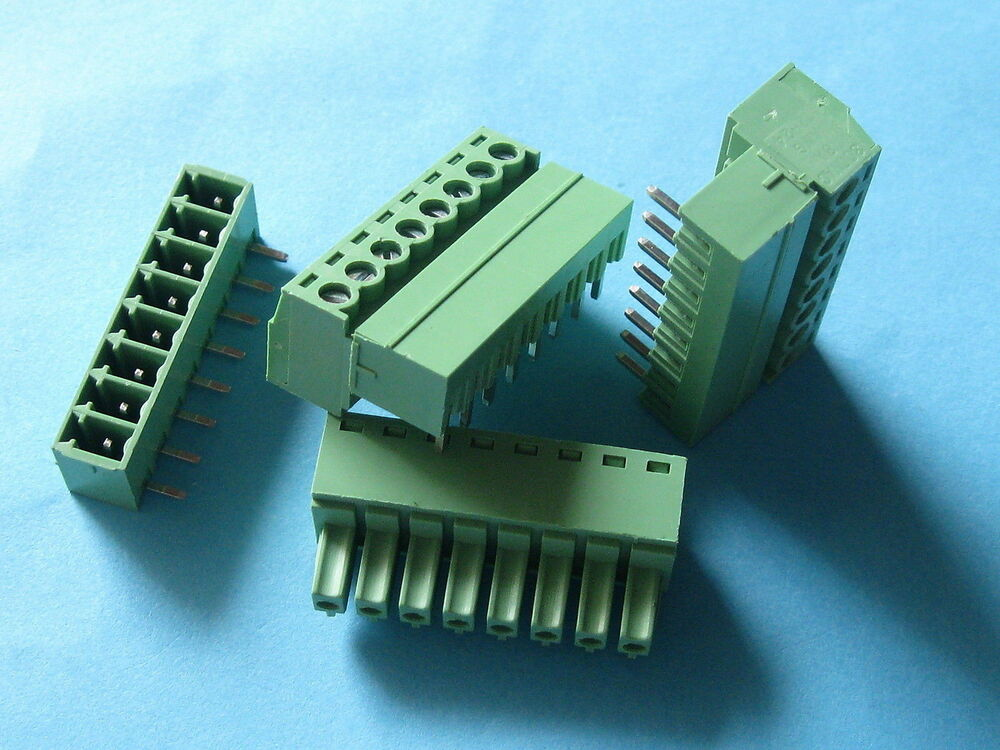 Pcs pitch mm angle way pin screw terminal block