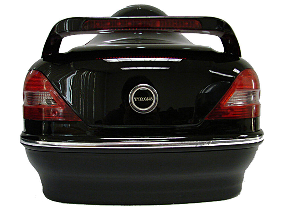 gloss black motorcycle cruiser scooter hard trunk top case w mount tail lights ebay. Black Bedroom Furniture Sets. Home Design Ideas