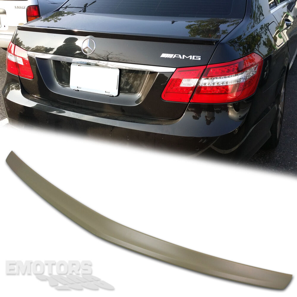 Mercedes benz w212 e class 4dr sedan trunk spoiler wing 16 for How to open the trunk of a mercedes benz e320
