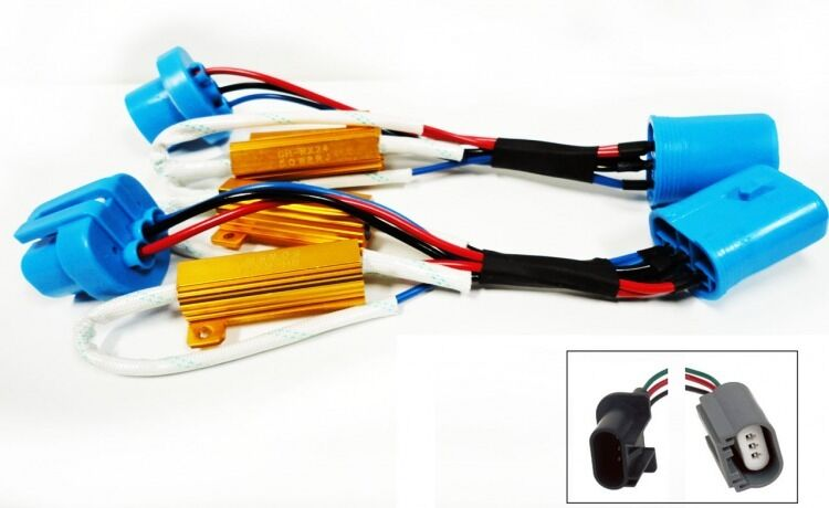 h13 led light xenon hid headlight no error load resistor wiring rh ebay com Wiring Harness Terminals and Connectors Ford Wiring Harness Kits