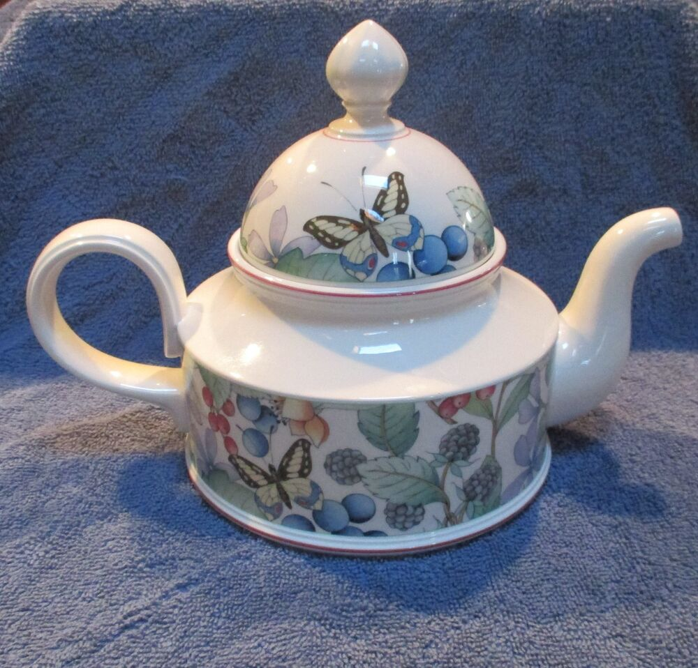 villeroy boch catalina tea pot ebay. Black Bedroom Furniture Sets. Home Design Ideas