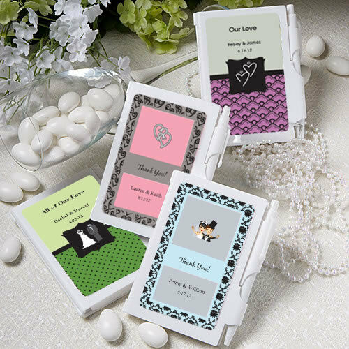 50 personalized notebook sweet sixteen wedding party for Personalized wedding shower favors