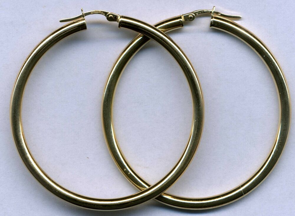 real 9ct 375 yellow white gold hoop sleeper earrings. Black Bedroom Furniture Sets. Home Design Ideas