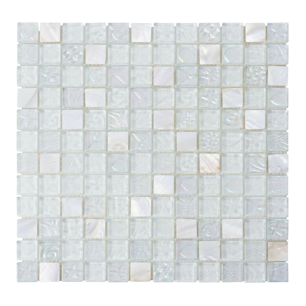 mother of pearl sell iridescent glass mosaic tile kitchen backsplash