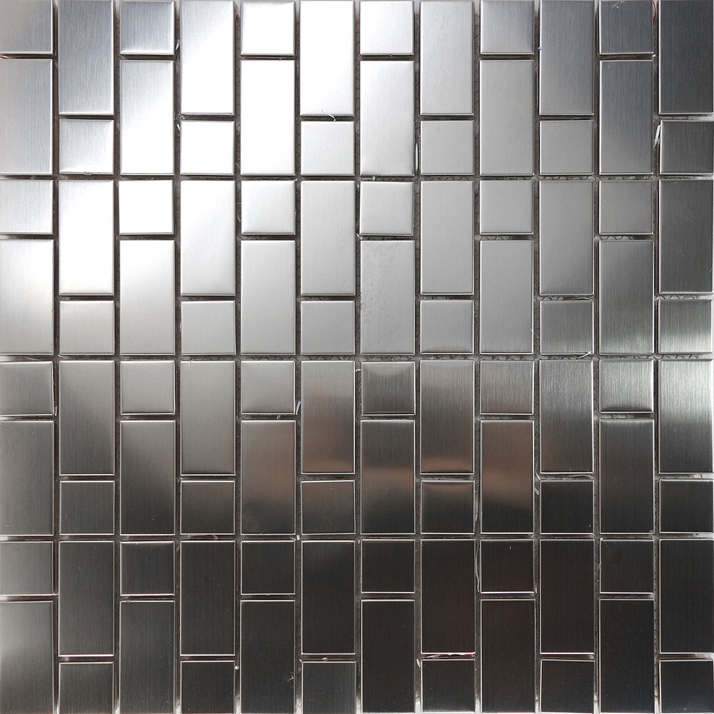 1sf Stainless Steel Brushed Nickel Pattern Mosaic Tile