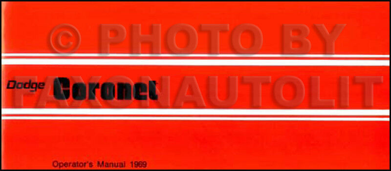 1969 dodge charger owners manual