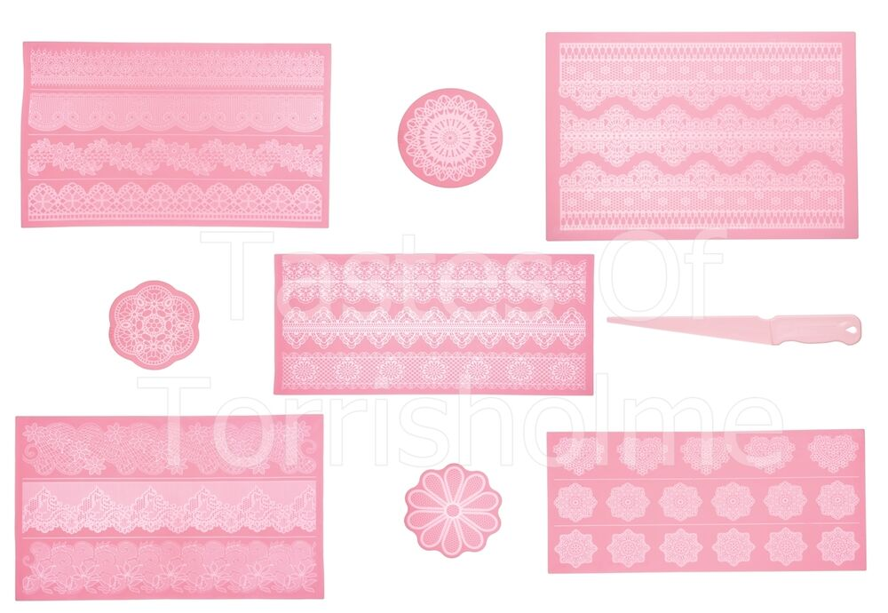 Kitchen Craft Silicone Cake Lace Icing Decorating Mats
