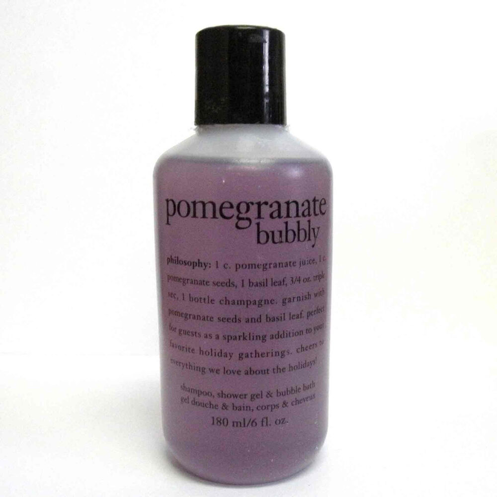 Philosophy Pomegranate Bubbly Shampoo Shower Gel Amp Bubble