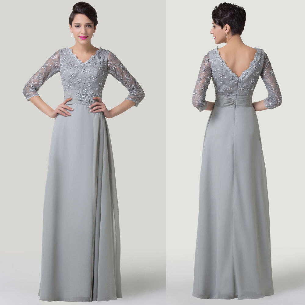 Evening Wear For Weddings: NEW LONG Vintage Mother Of The Bride&Groom Evening Wedding