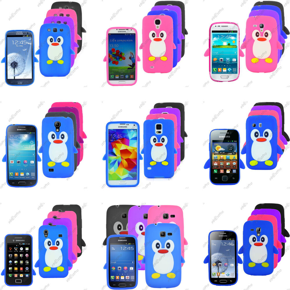 Coque housse etui silicone souple pingouin samsung serie for Housse samsung galaxy s3