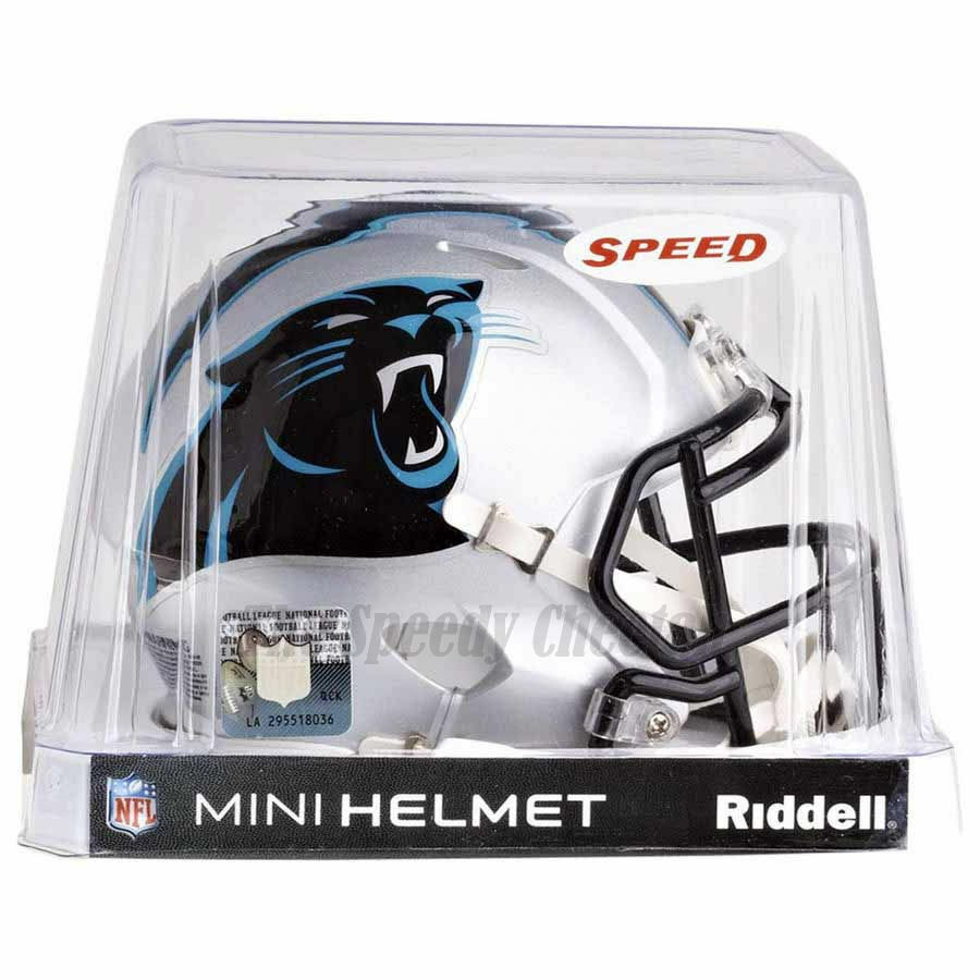 1f1fa2e6a3f17 Details about CAROLINA PANTHERS RIDDELL NFL MINI SPEED FOOTBALL HELMET
