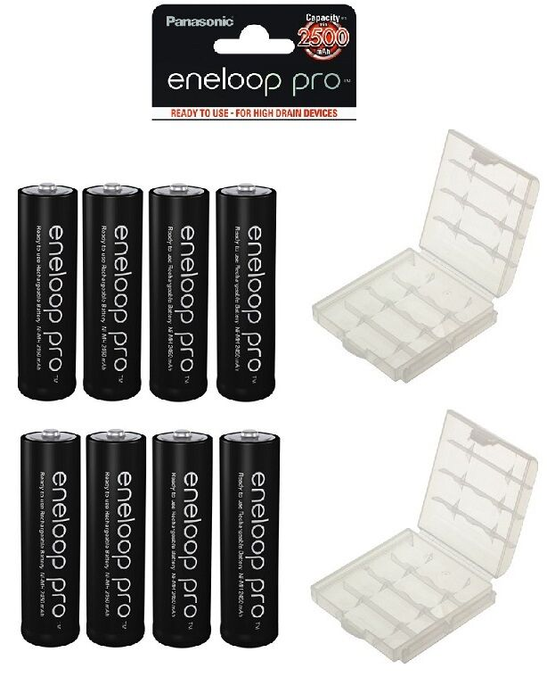 8x eneloop pro panasonic akku 2550mah typ aa mignon 2x box typ bk 3hcde ebay. Black Bedroom Furniture Sets. Home Design Ideas