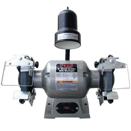 6 Bench Grinder With Grinding Wheels And Light Tjl Industrial Wh08 10010 Ebay