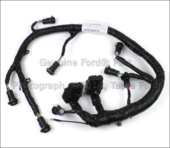oem fuel injector wire wiring harness 2005-2007 ford f250 ... injector wiring harness ford f 150 coil ford injector wiring harness #1