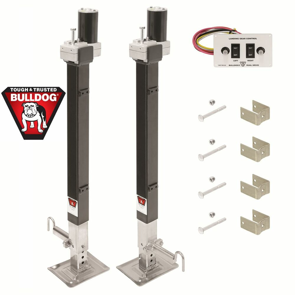bulldog electric jacks bulldog electric 5th wheel rv landing gear dual trailer 1163