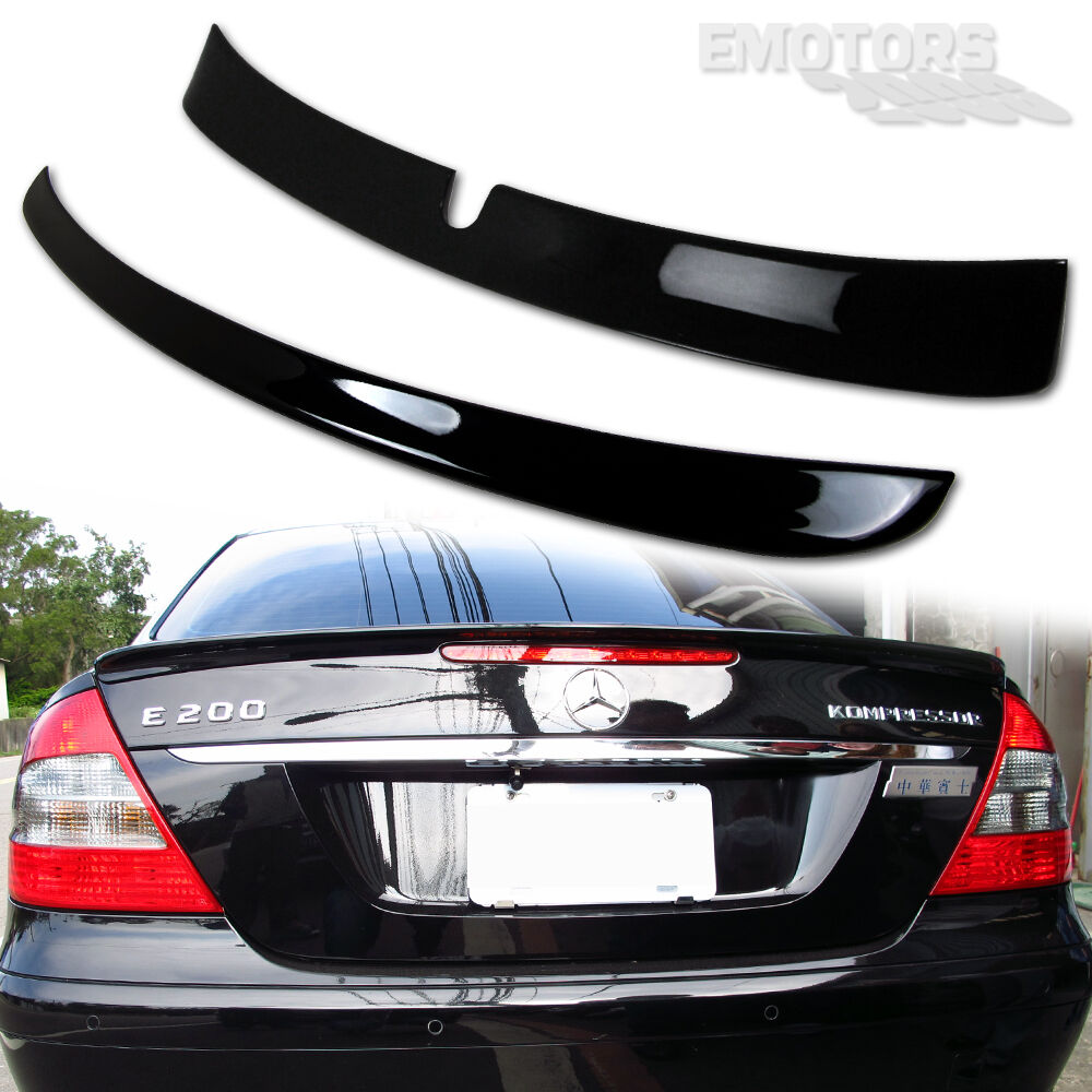 Painted mercedes benz w211 e class l type roof a trunk for Mercedes benz e350 parts accessories