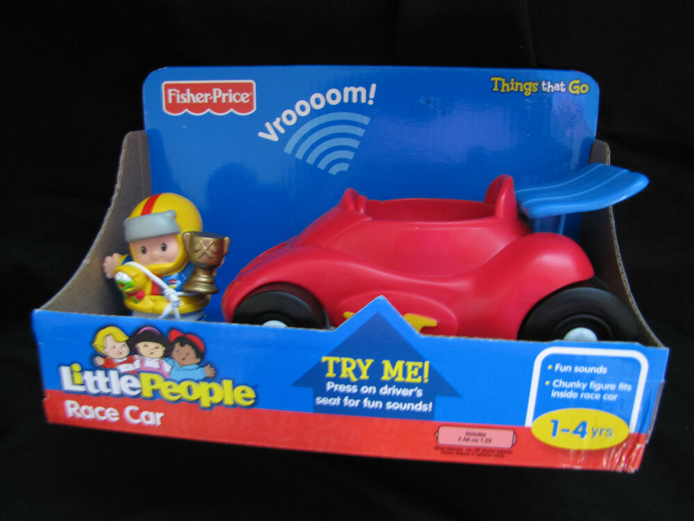 ... Little People RACE CAR & EDDIE Driver Things that Go ~ Sounds! | eBay